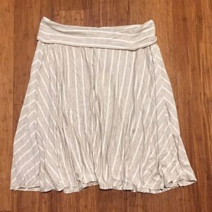NWT Max Studio Flowy Beige and White Striped Skirt